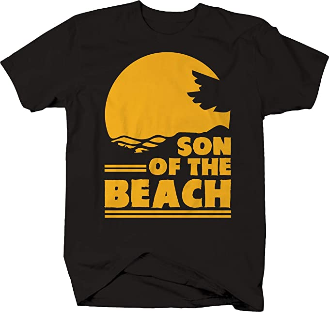 Son of The Beach Funny Adult Vacation Sunset T-Shirt -Medium