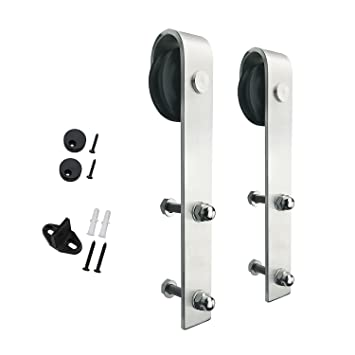Charmant SMARTSTANDARD Stainless Steel Sliding Barn Door Hardware Hangers 2pcs