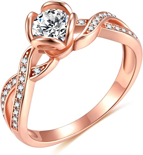 1//2CT Round Cz Promise Engagement Solitaire .925 Sterling Silver Ring Sizes 5-9