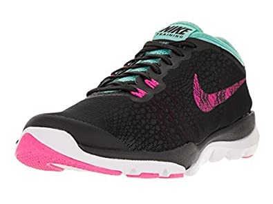 purchase cheap 04934 5c8ce Amazon.com   Nike Flex Supreme TR 4 BTS Black Hyper Turquoise White Pink  Blast Womens Cross Training Shoes   Road Running