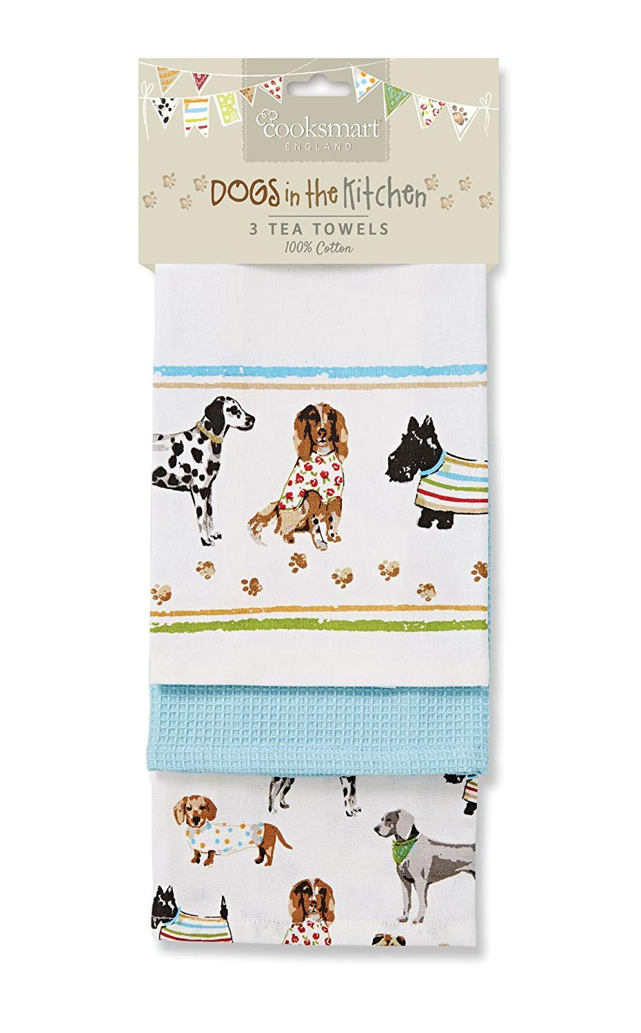 Cooksmart Best in Show Tea Towels, Multi-Colour, Pack of 3 City Look Imports 9284
