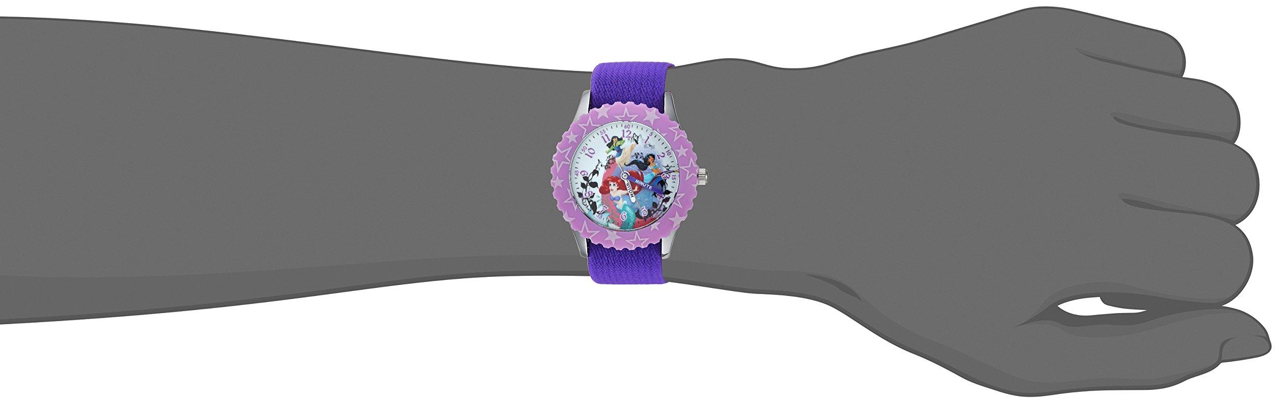 DISNEY Girls Princess Mulan Stainless Steel Analog-Quartz Watch with Nylon Strap, Purple, 15 (Model: WDS000200) by Disney (Image #2)