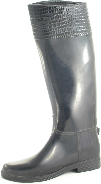 Stivali galosce gomma donna nero antipioggia impermeabili