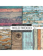 Wild Wood 8x8 Scrapbook Paper Rustic Textures: Wood Grain Photo Backgrounds, Decorative Craft Paper Pad, Designer Specialty Paper for Scrapbooking, Card Making, Printmaking, Crafting, Collage Pages
