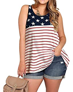 Toponly Fourth of July Short Sleeve Sunflower American Flag Printed V Neck T Shirt Women Sports Independence Day Tee Tank Tops Star Stripe Patriotic Blouse Tunic