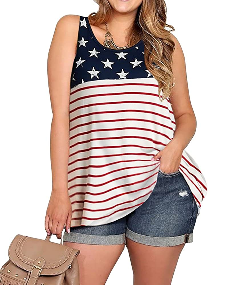 0178facf7b7 Plus size available from XL to 5XL Stars and stripes print