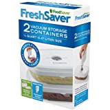 FoodSaver Deli Containers 2 pack 1/2 qt 0.47 liter size
