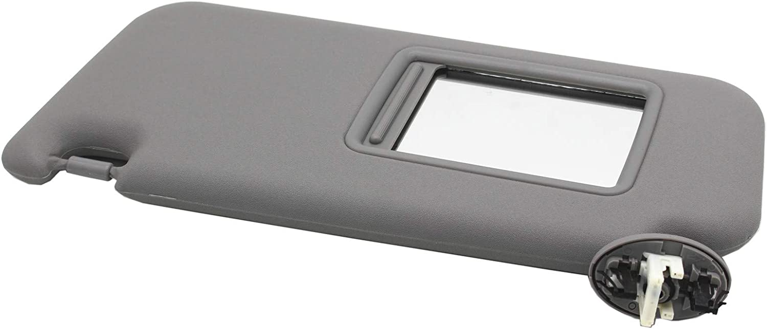 Grey Replace 74320-3D050-B0 RANSOTO Left Driver Side Sun Visor Compatible with 2004 2005 2006 2007 2008 Toyota 4Runner Without Light