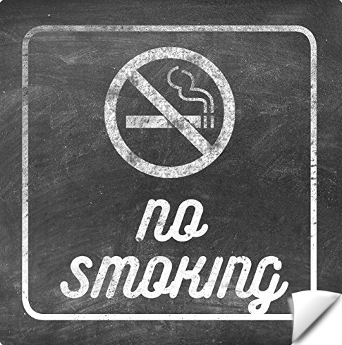 No Smoking Logo - Rustic No Smoking Sign 8 Pack - Self Adhesive Vinyl Sticker - Stop Smoke - No Cigarette Logo - Large 8 X 8
