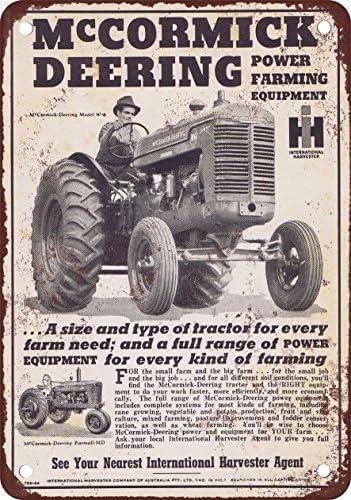 McCormick-Deering Tractor Service Garage Tin Metal Sign