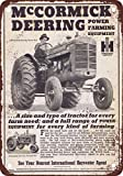 1946 McCormick Deering Tractors Vintage Look Reproduction Metal Tin Sign 12X18 Inches