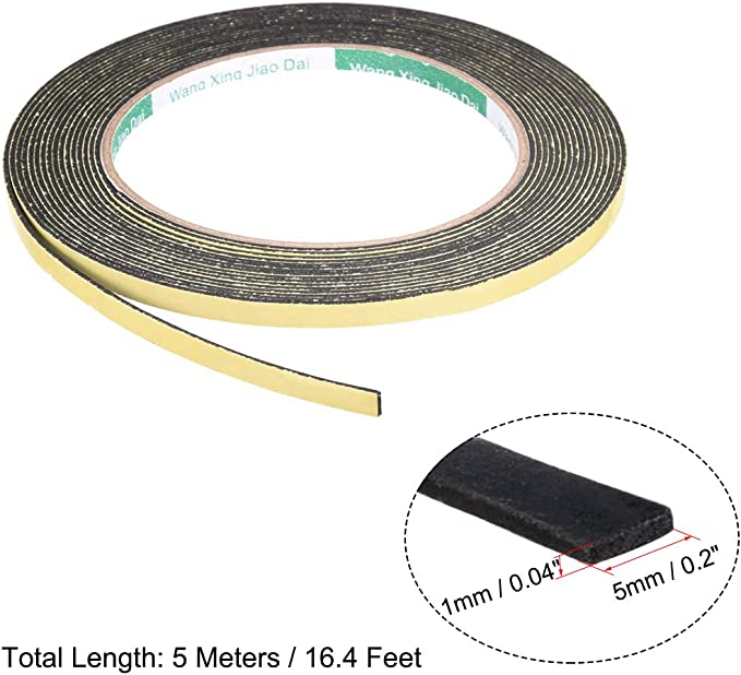 sourcing map Joint mousse 30mm ruban large 2mm /épaisseur 16,4 long /étanch/éit/é adh/ésif
