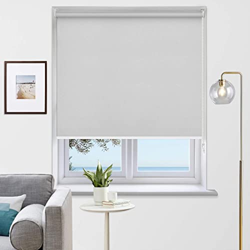 MiLin Blackout Roller Shades Room Darkening Window Blinds and Shade