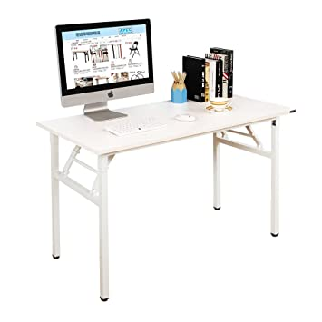 Amazoncom Need Computer Desk Office Desk 55 Folding Table With - folding office table