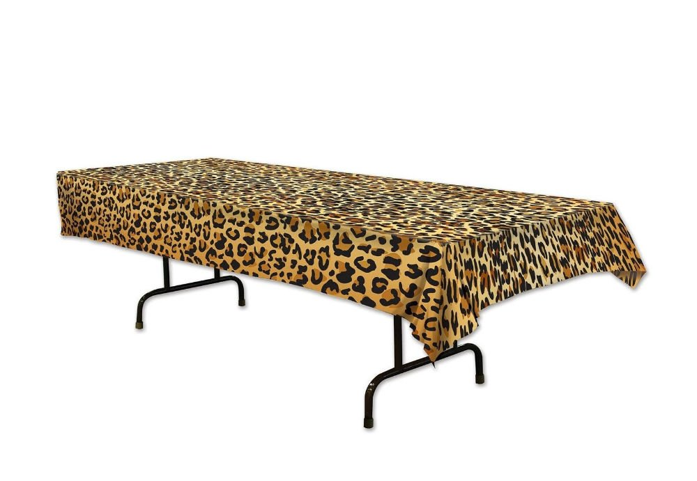 Jungle Safari LEOPARD Plastic TABLE COVER Party Decoration ANIMAL PRINT