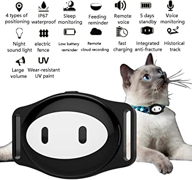 Amazon.com: OMZBM Smart Pet GPS Collar Tracker Localizador ...