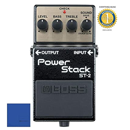 Amazon.com: Boss ST-2 Power Stack Distortion Guitar Effects Pedal with 1 Year Free Extended Warranty: Musical Instruments