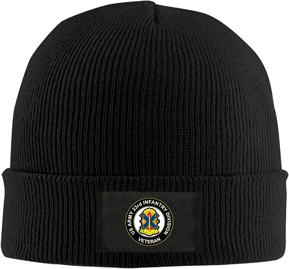 FORDSAN CP US Army Veteran 23rd Infantry Division Mens Beanie Cap Skull Cap Winter Warm Knitting Hats