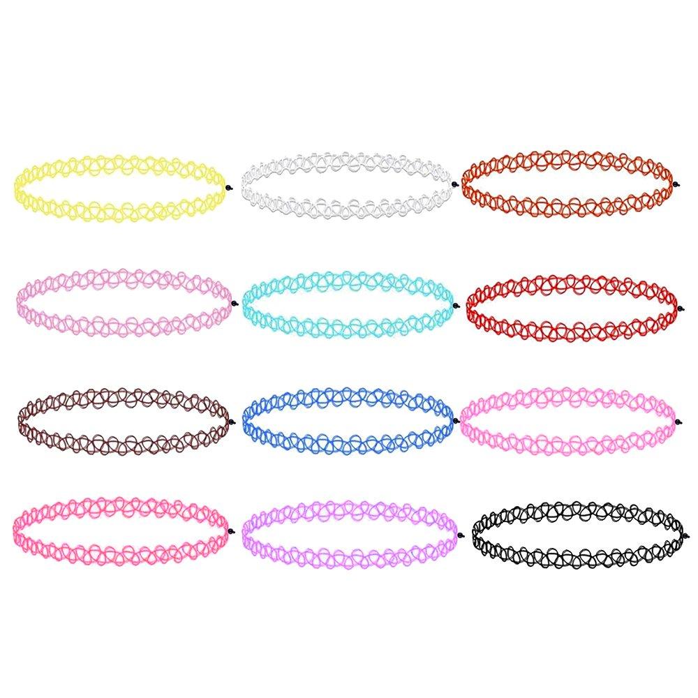 Zacro 12 Stück Gummi Halsband Tattoo-Kette: Amazon.de: Elektronik