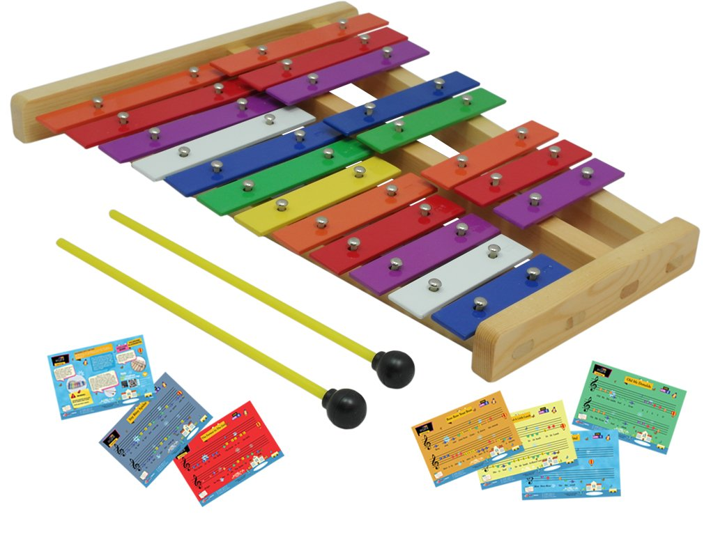 D'Luca TL25D 20 Notes Full Chromatic Xylophone Glockenspiel with Music Cards by D'Luca (Image #4)