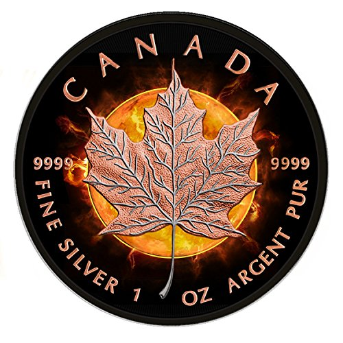 2016 Canadian Maple Leaf Eclipse of The Sun 1oz silver coin