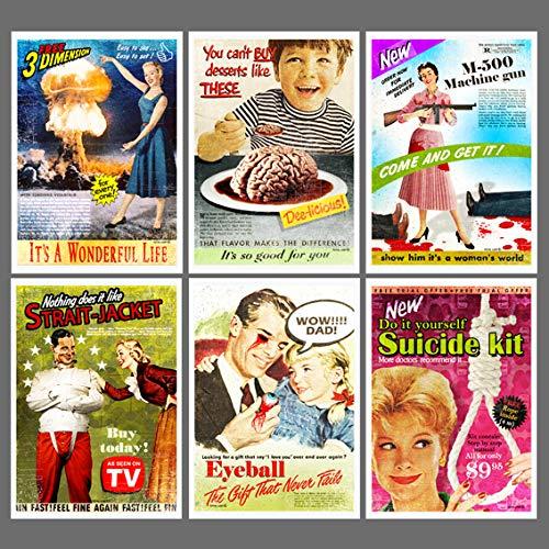 (Vintage ads posters,vintage ads prints,horror poster,digital print,retro poster,vintage print,home decor,advertisement,creepy poster)