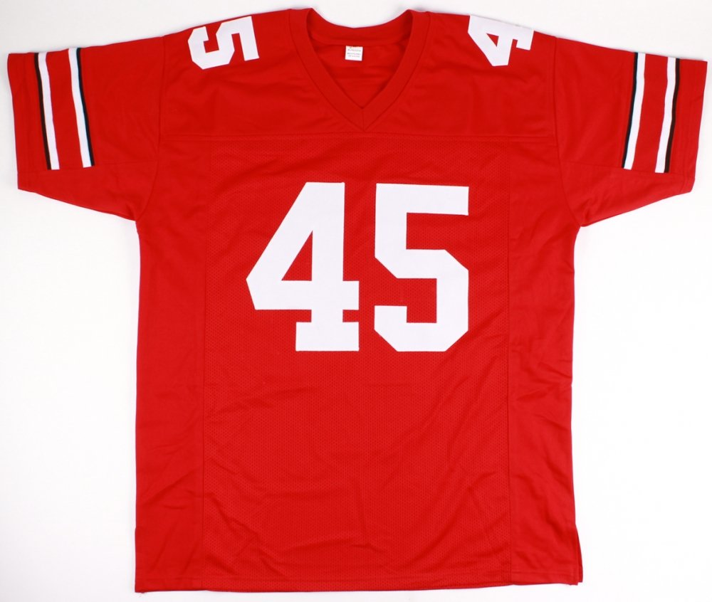 247e41ce31c Archie Griffin #45 Signed Ohio State Buckeyes Jersey Inscribed