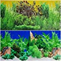 20 Inch Height Double Sided Aquarium Terrarium Yellow Freshwater Plants Background Decorations
