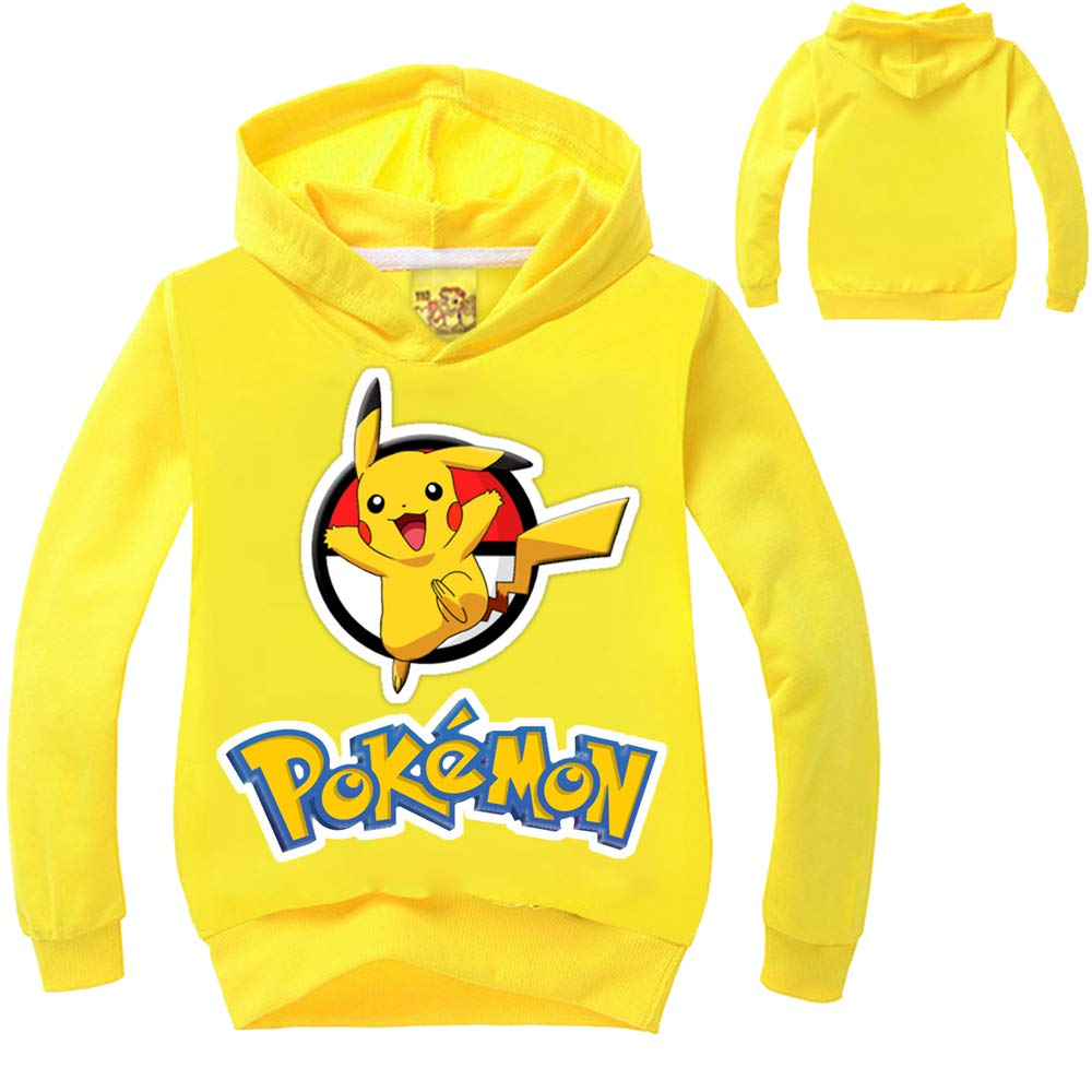 Pokemon Pikachu Mädchen Jungen Langarm Kapuzen T-shirt Kapuzenpullover Hoodie