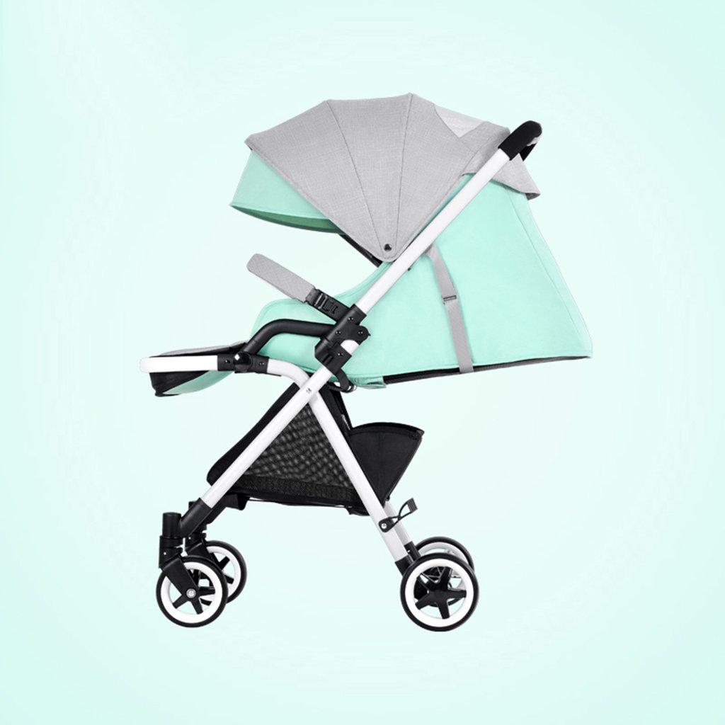 HAIZHEN マウンテンバイク ベビーカート超軽量ポータブル折りたたみ可能なアルミニウム合金フレームは、買い物かごでリビングクッションベビーキャリッジとダブルブレーキ5点シートベルトを座る/寝かせることができます 新生児 B07DS6PCY7 4 4