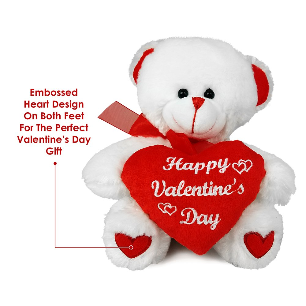 amazoncom valentines day teddy bear big 10 inch size stuffed animal plush valentine gifts for him or her toys games