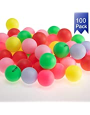 KEVENZ Beer Ping Pong Balls Assorted Color Plastic Ball (60/100/144 Pack)