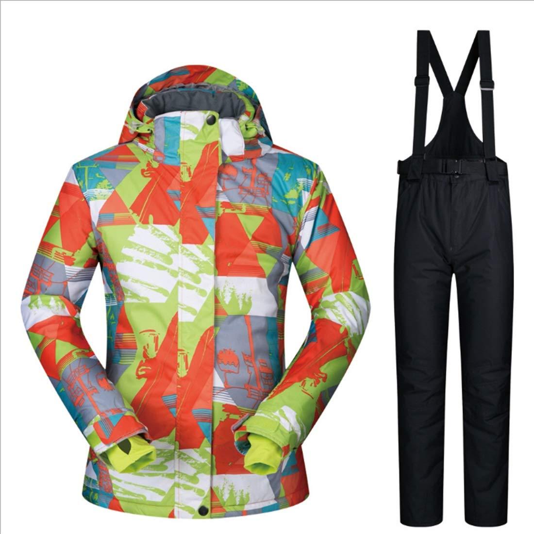 6 XIAMEND Winter Women's Waterproof Ski Jacket, Rain Snow Outdoor Hiking Coat (color   04, Size   M)
