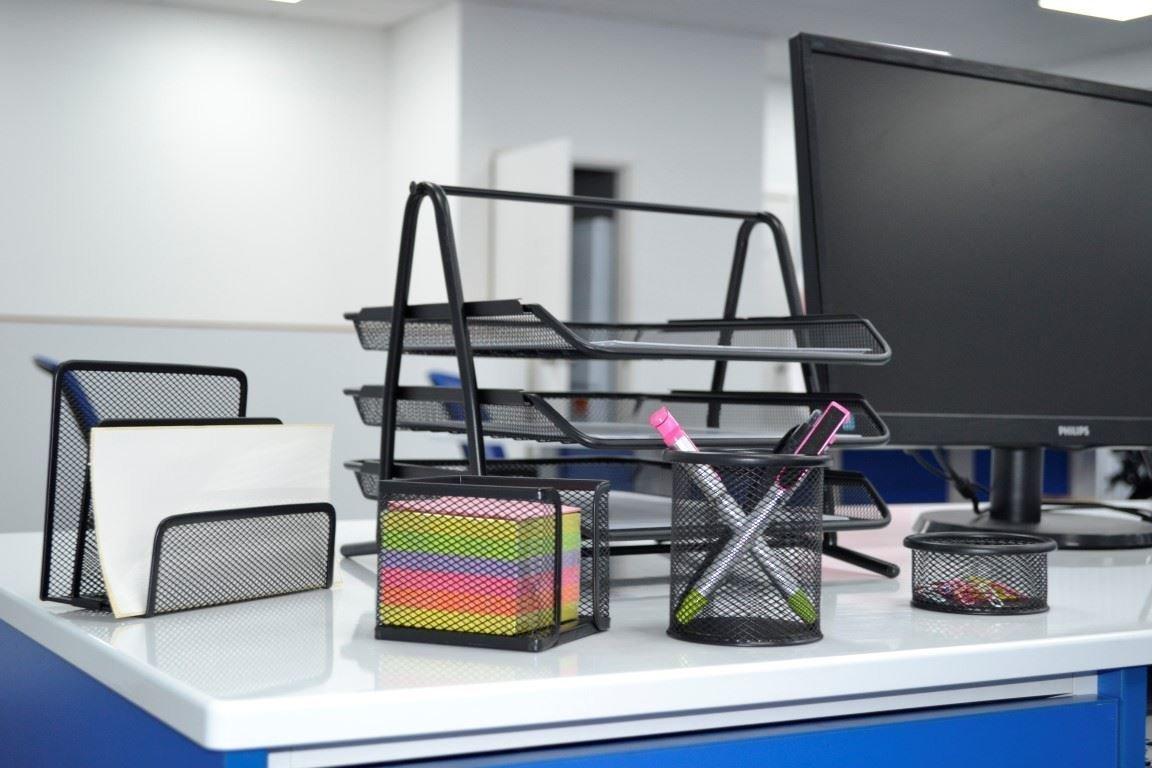portalettere Premium mesh Office set di 5/pezzi/ portapenne /3//portadocumenti//carta vassoio portacorrispondenza clip e memo Pad Holder