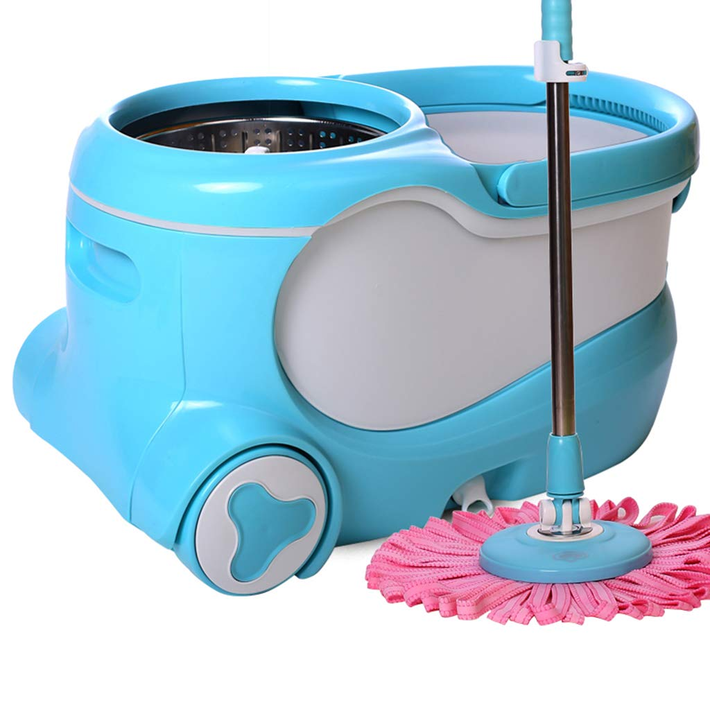 Rotating mop bucket deer skin automatically dehydrated drag free hand wash mop bucket mop home automatic water drag bucket barrel mop double drive stainless steel mop dry and wet separation,E