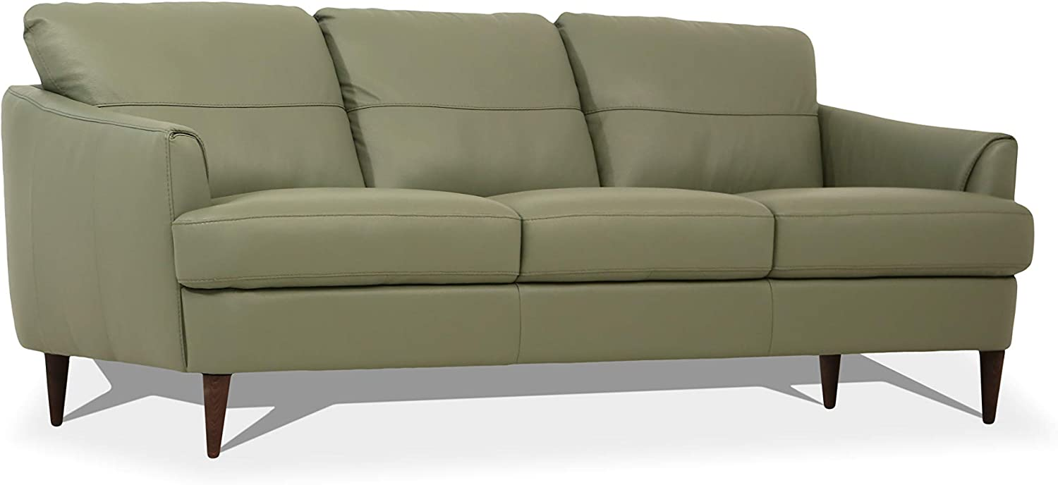 Amazon.com: ACME Furniture Tacoma Sofa, Moss Green Leather ...