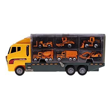 Avec Chantant 164 Camion Petits Métal Flameer De Transporteur 6 oCxdBre