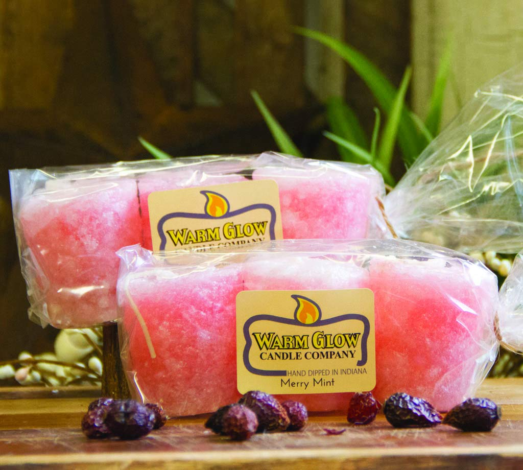 Warm Glow Candle Company Merry Mint 6 Pack Votive Candles
