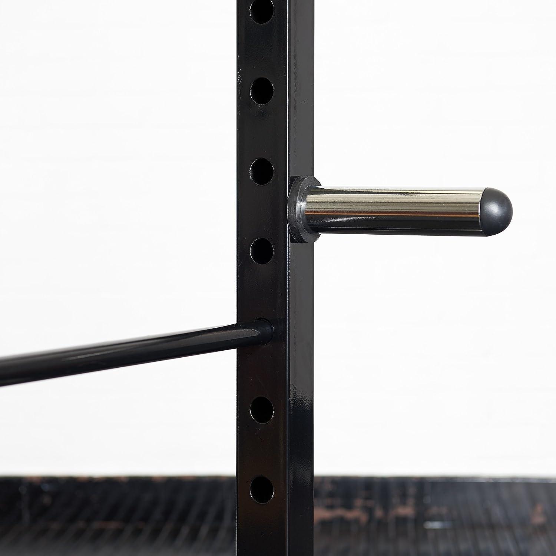 Mirafit Ensemble de 4 Barres de Rangement Olympiques 50mm pour Cages de Musculation de 60mm Chrome