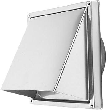 uyoyous 304 - Campana de aire de acero inoxidable de 125 mm de diámetro, rejilla de protección contra la intemperie, rejilla de ventilación, color plateado: Amazon.es: Bricolaje y herramientas