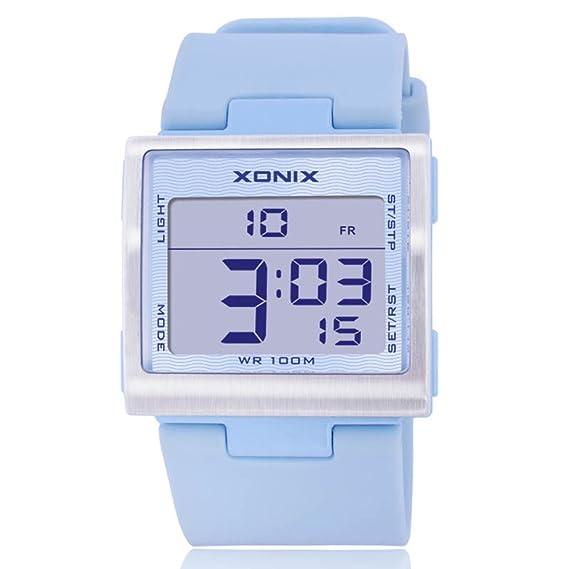 Reloj Digital para niños multifunción para niñas Estudiantes, Resistente al Agua, LED, Luminoso: Amazon.es: Relojes