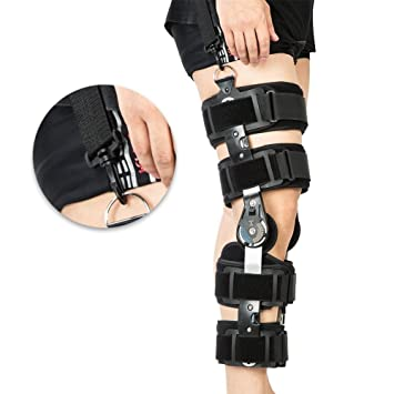 eff6d6bf64 Hinged ROM Knee Brace with Strap,Ideal for ACL/Ligament/Sports Injuries,