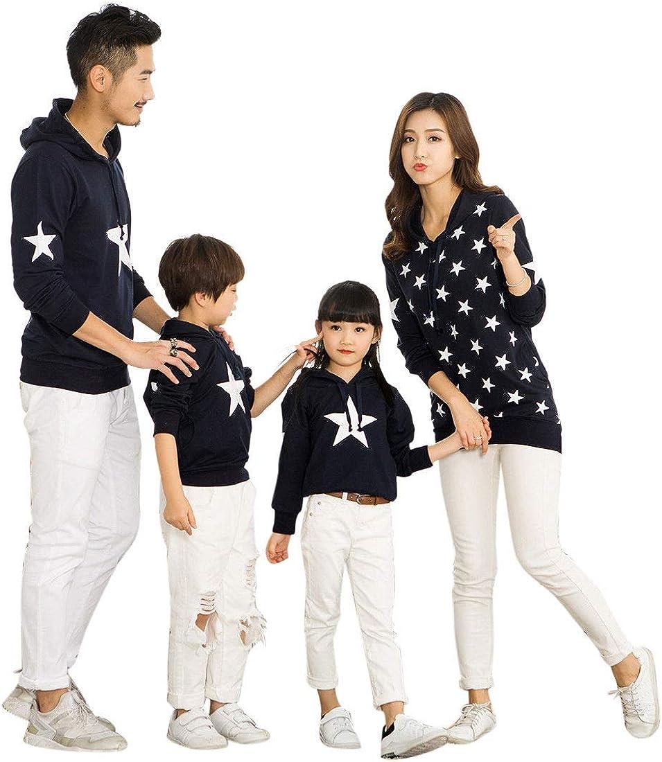 TALLA EU XL = Tag 3XL. besbomig Familia papá Mamá Hija Hijo Sudaderas Camiseta de Manga Larga Sudadera mamá y bebé Ropa de Familia