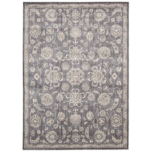Rug Squared Phoenix Transitional Area Rug (PHX01), 5-Feet 3-Inches by 7-Feet 3-Inches, Charcoal (Discount Outdoor Furniture Phoenix)
