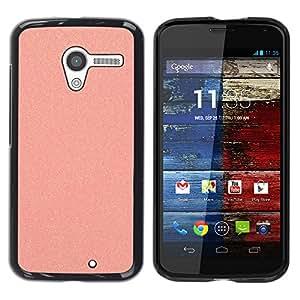 YOYOYO Smartphone Protección Defender Duro Negro Funda Imagen Diseño Carcasa Tapa Case Skin Cover Para Motorola Moto X 1 1st GEN I XT1058 XT1053 XT1052 XT1056 XT1060 XT1055 - melocotón brillo lija de plástico rosa