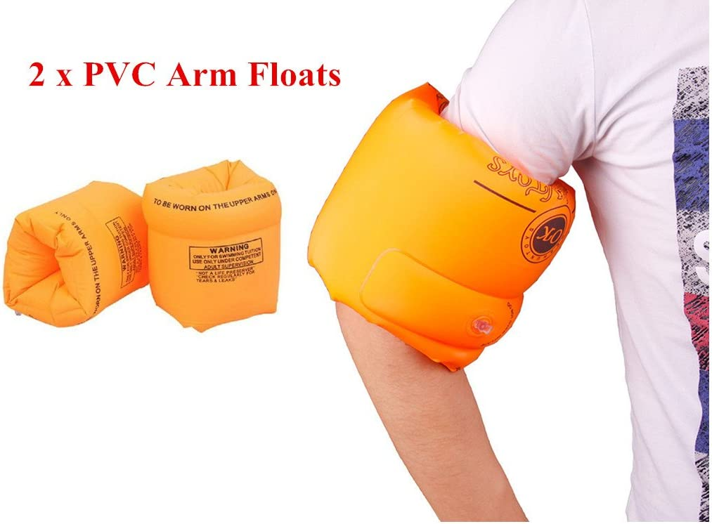 Amazon.com : ZWZCYZ Floaties 1 Pair/2pcs Inflatable Swim Arm Bands ...