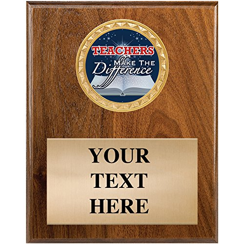 - Crown Awards Teacher Recognition Plaques - 4.5 x 6.5 Teachers Make The Difference Plaque Award Gift Prime