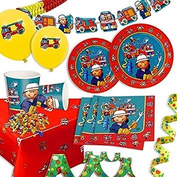 Set de decoración para bomberos de cumpleaños infantil niños ...