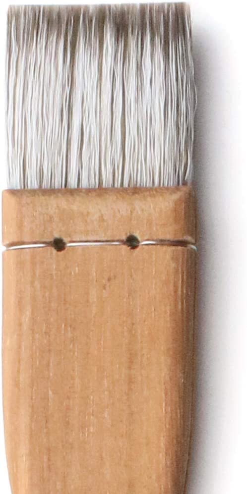 Herend Brush Series F-1700 (25mm ~ 100mm) for Watercolor with Goat Hair/Hake Flat Paintbrush (25mm)