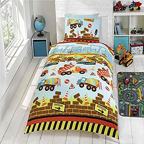Under Construction Junior Duvet Cover and Pillowcase Set